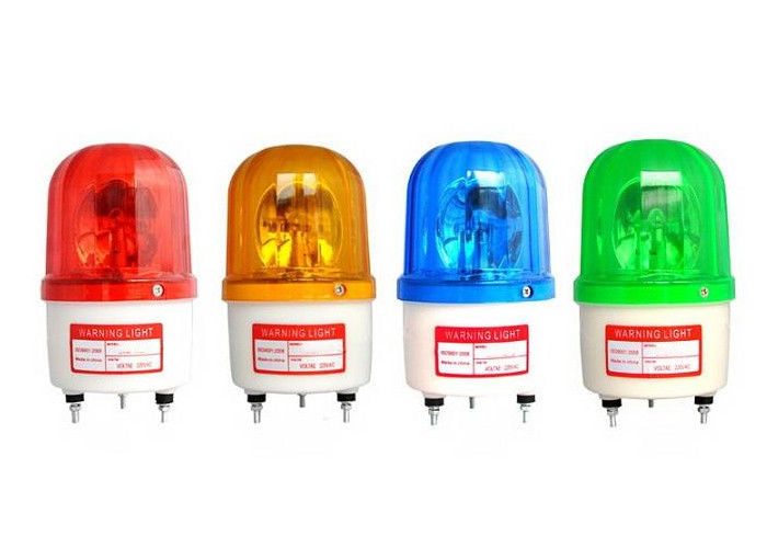 Red Green Blue Rotating Warning Light Alarm LED Flash With Sound 90dB 220V 12V